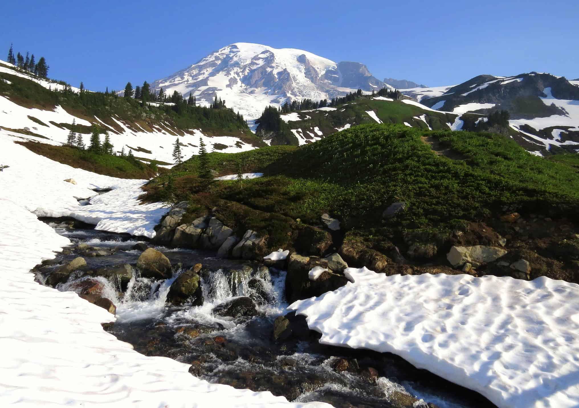 Waterfalls at Mt Rainier