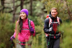 Hikers at Mt Rainier