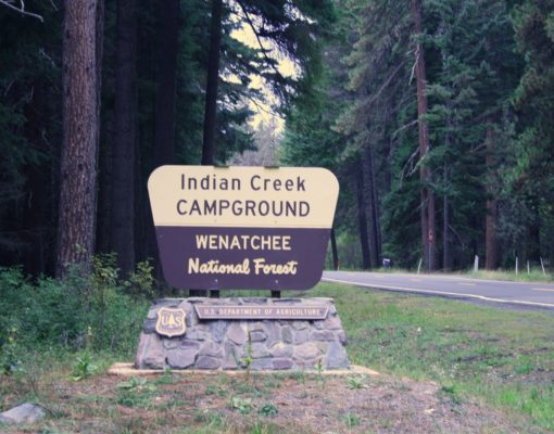 Indian Creek Campground sign
