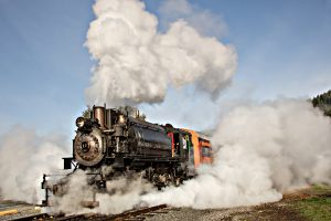 Steam Train Rides Depart from Elbe, WA
