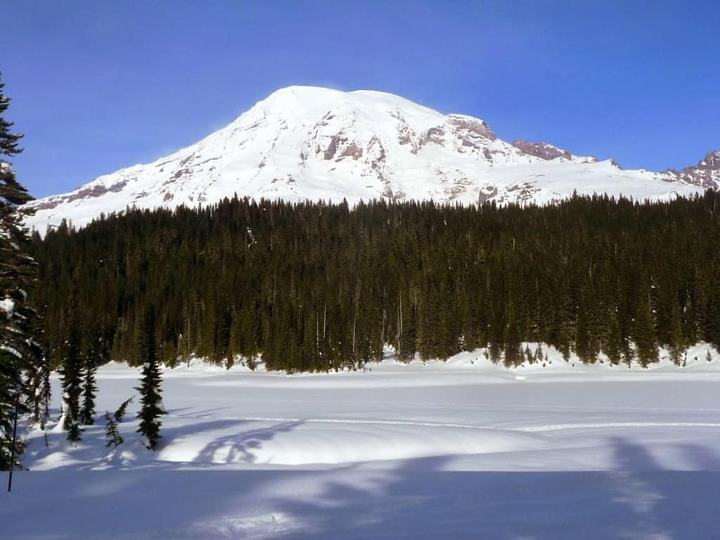Mt. Rainier Snowshoe:  Reflection Lakes