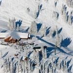 Overhead view of ski lodge at Mt Rainier