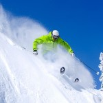 Man skiing at Mt Rainier