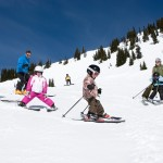 Children skiing at at Crystal Mountain Resort