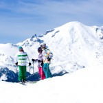 Group of skiers at Mt Rainier