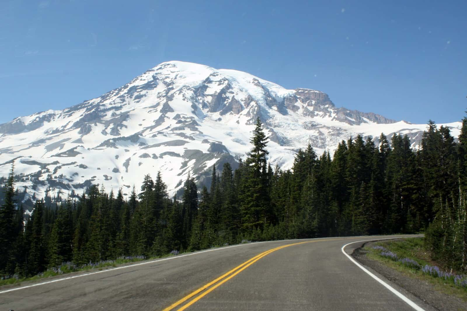 Image result for road to mount rainier from Seattle