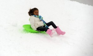 Sledders at the Snowplay area at Paradise
