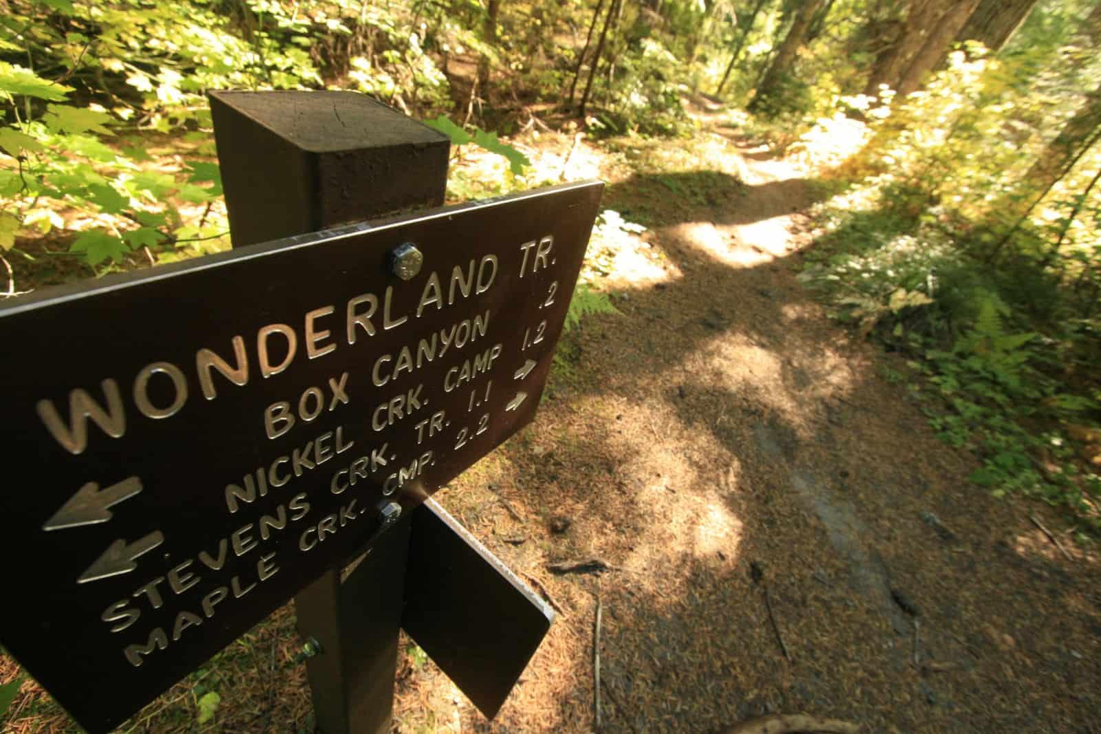 Wonderland Trail signage