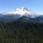 View of Mount Rainier as seen from Mount Beljica
