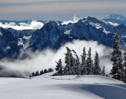 Glacier Vista Snowshoeing