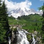 Myrtle Falls and Mt Rainier
