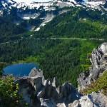 View at Reflection Lakes at Mount Rainier