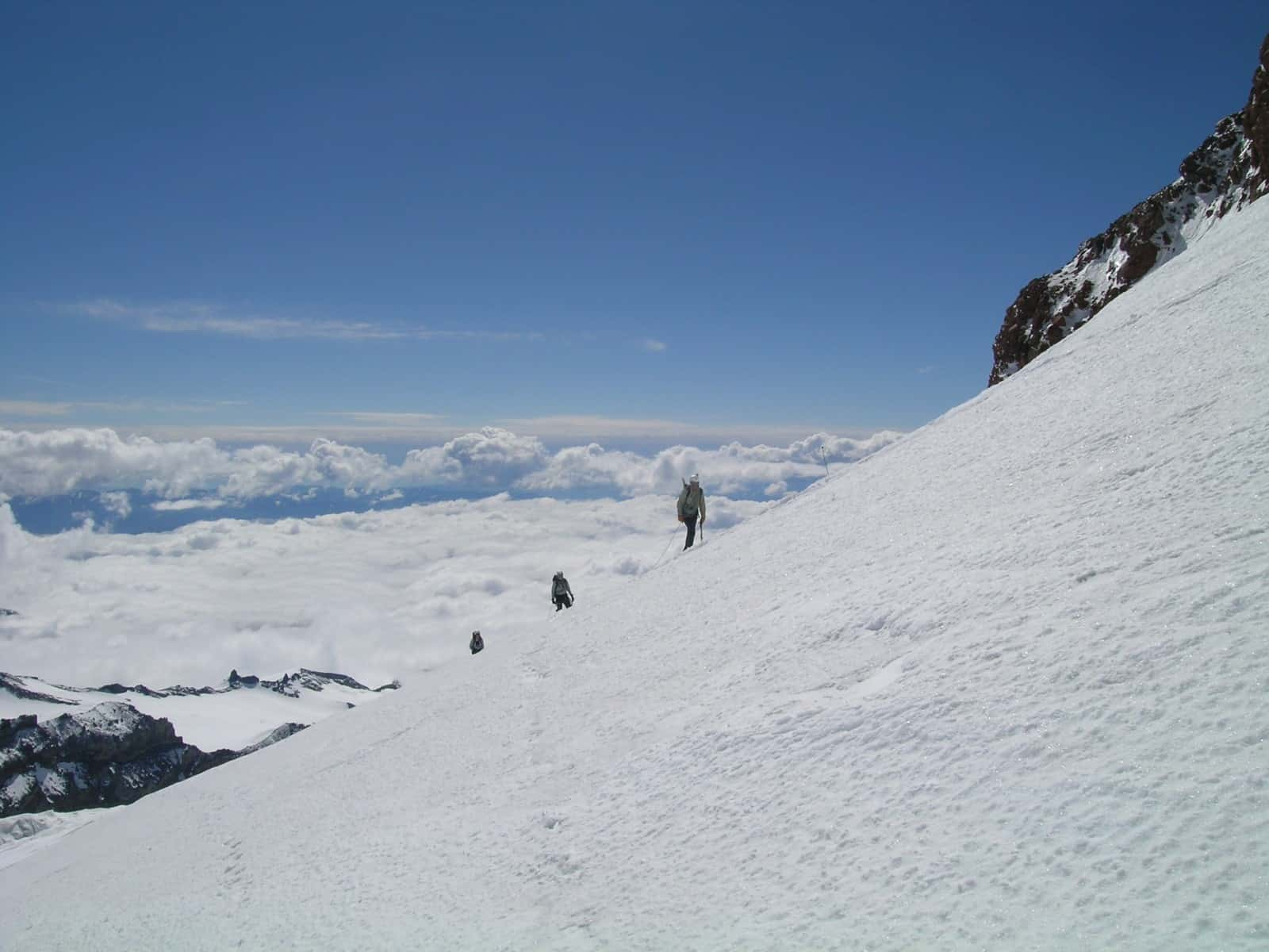 Hikers Ascending the Ingraham Glacier