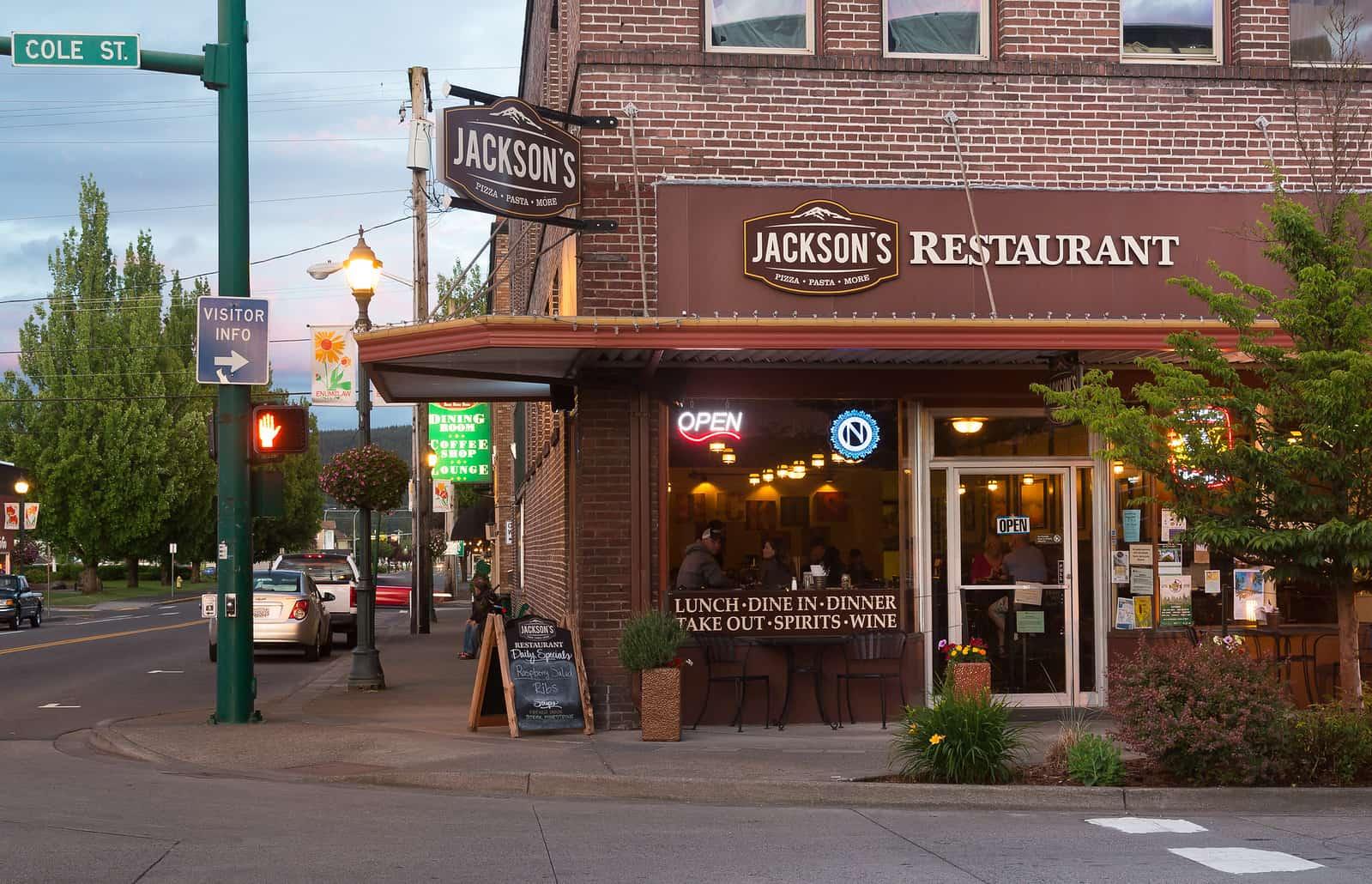 Jackson's Restaurant in downtown Enumclaw. Photo courtesy Dan DeVries Photography.