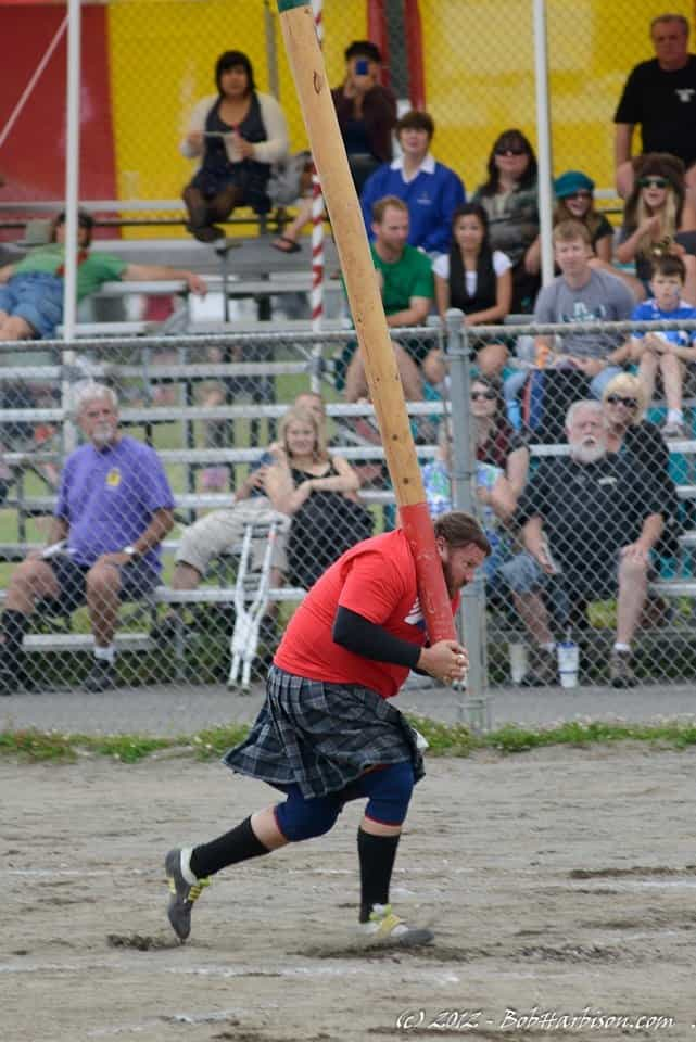 Caber Toss at Seattle Scottish Highland Games