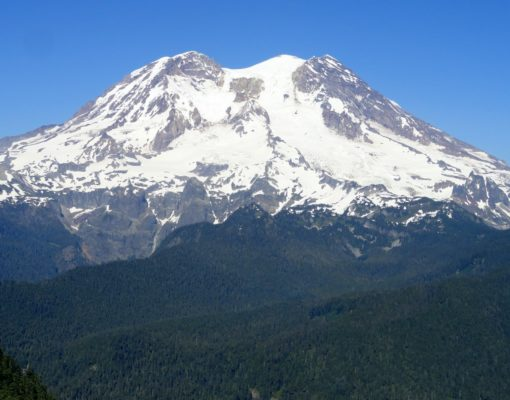 The view of Rainier is overpowering from Glacier View