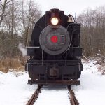 Winter Steam Train for the Polar Express