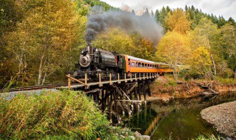 Fall Steam Train Rides at Mt. Rainier Railroad Photo Courtesy Allen's Photographic