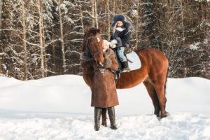 Winter horseback rides