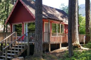 Little Red Cabin by Mount Rainier