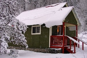 The Polar Express Train Ride Special at Wilderness Edge Cabin
