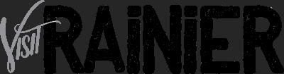 Visit Rainier Logo - greyscale