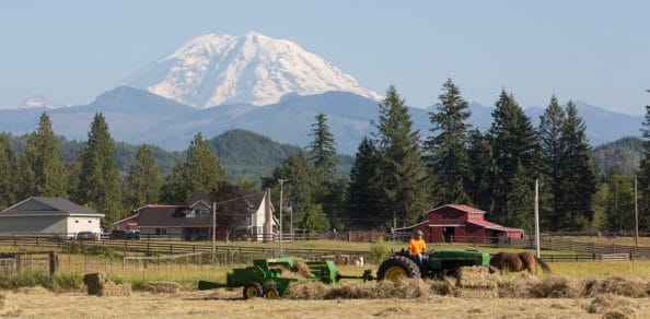 Mount Rainier as seen from Enumclaw