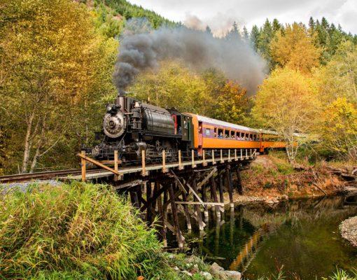 Mt Rainier Railroad Fall Colors Courtesy Allen's Photographic