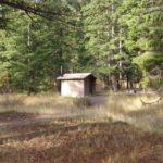 Restrooms at Halfway Flat Campground