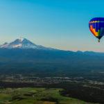 hot air balloon ride Mt. Rainier