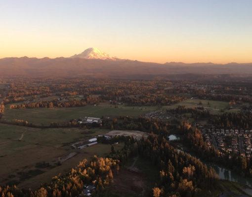 Hot Air Balloon Ride Near Mt Rainier
