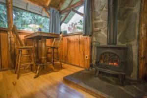 Altimeter Cabin fireplace