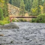 River and bridge at Cottonwood Campground