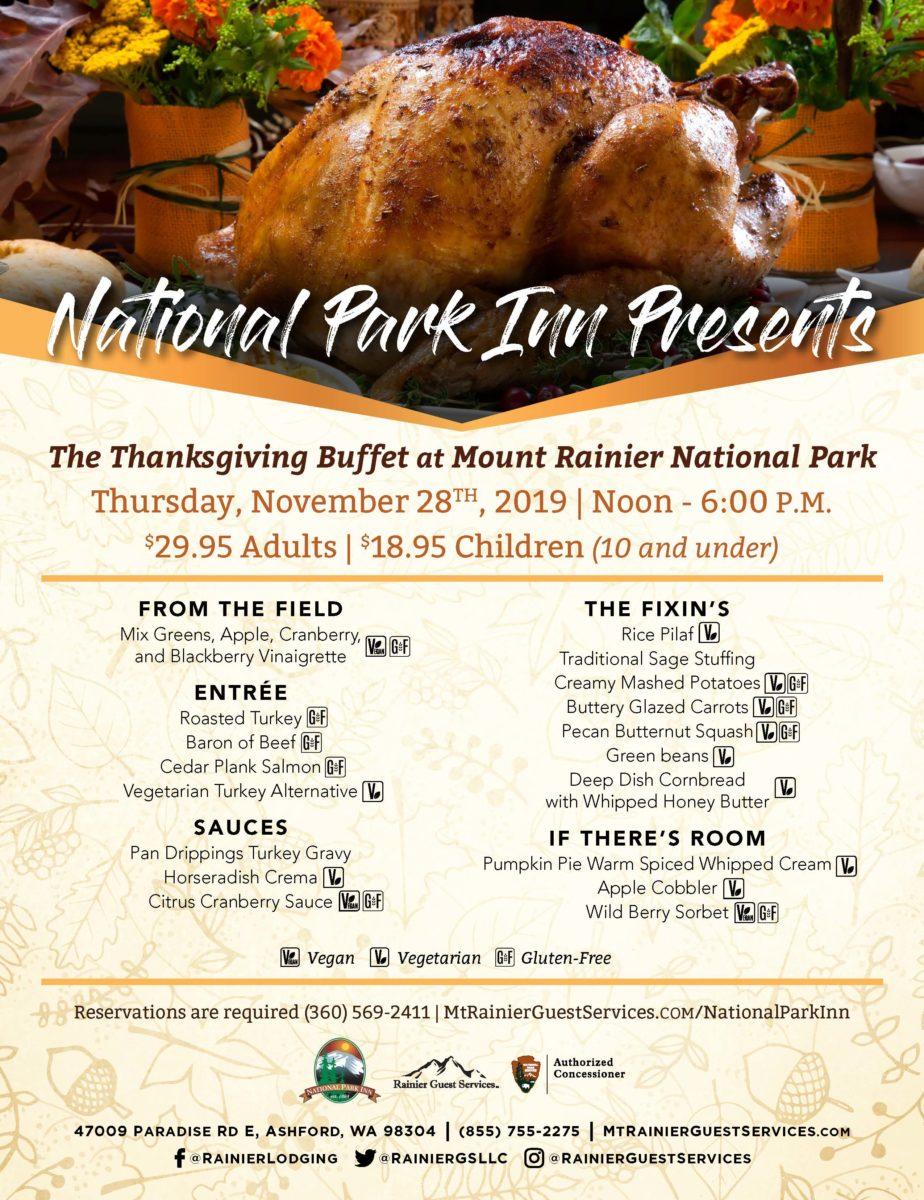 Thanksgiving Buffet Menu