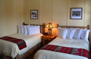 Guest room with two beds at the Paradise Inn