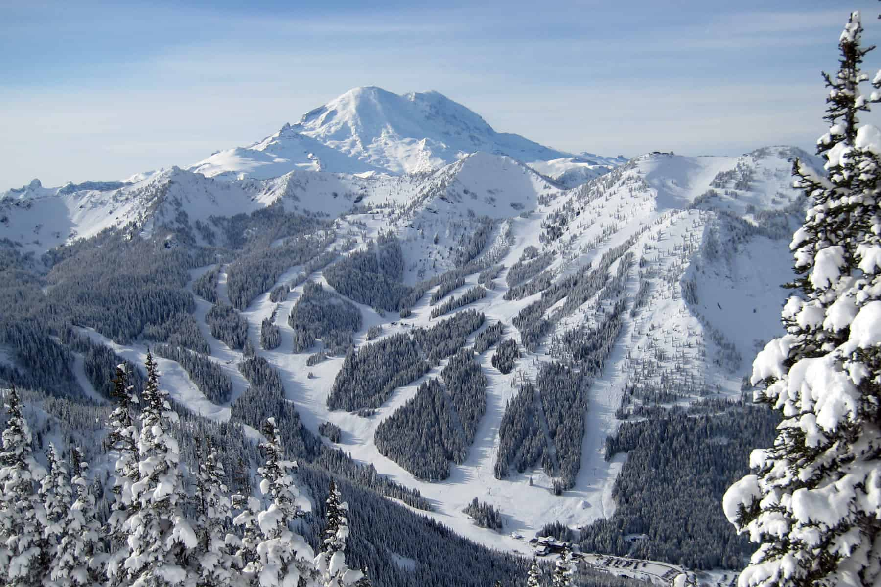 sky view of crystal mountain