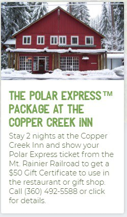 Copper Creek Inn Polar Express Lodging Special