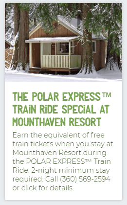 Mounthaven Polar Express Lodging Special
