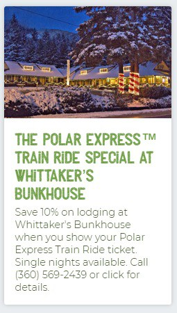 Whittaker's Polar Express Lodging Special