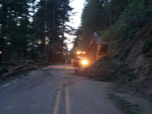 Slope Stabilization work on State Route 7 near Lake Alder