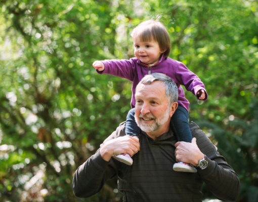 Grandfather and Grand Daughter at Northwest Trek WIldlife Park