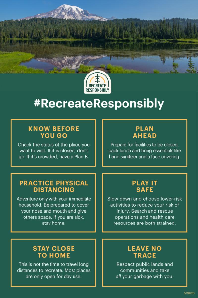 #recreateresponsibly tips