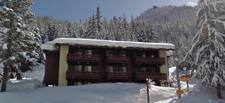 Village Inn with snow