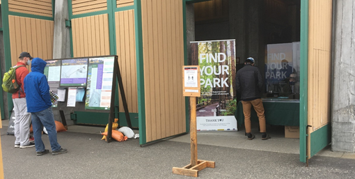 Info Station at Mount Rainier National Park