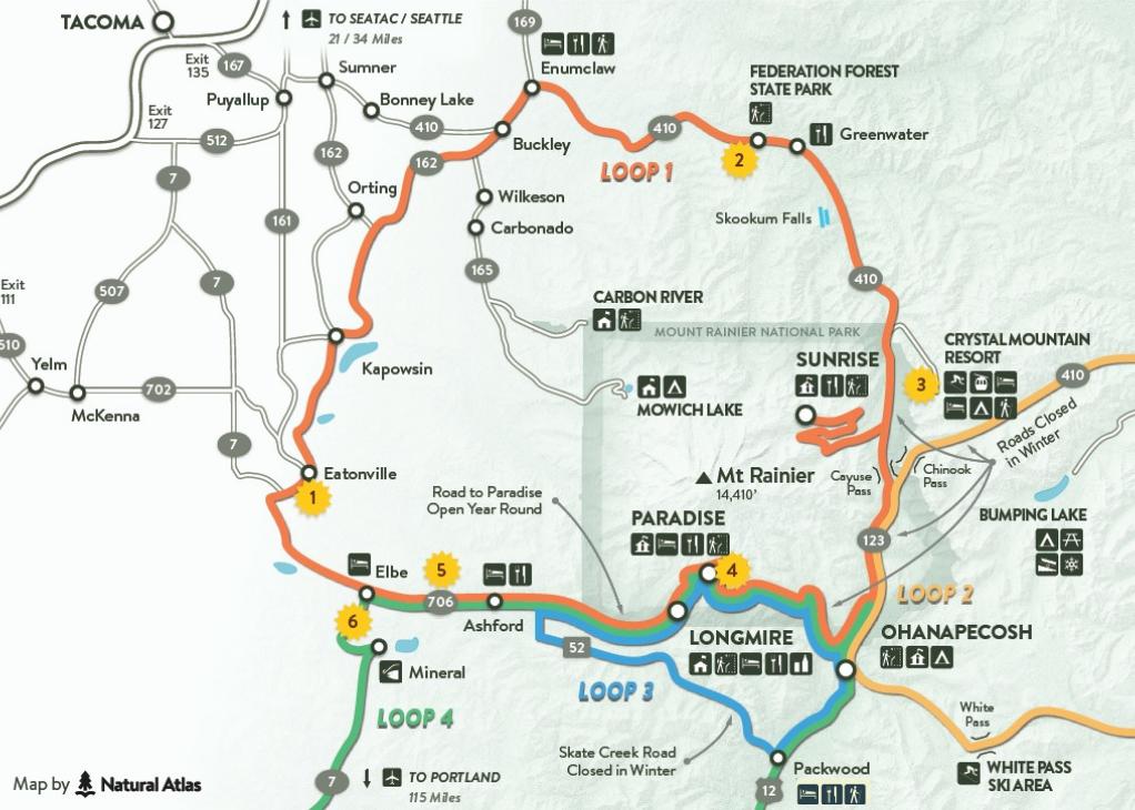 Visit Rainier Map