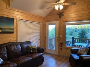 Living area at River's Edge