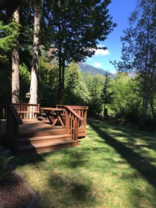 Deck outside The River House