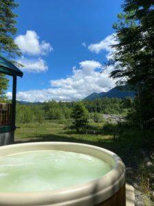 Hot tub at Rivers Edge