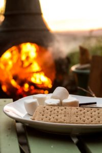 S'mores roasting