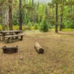 Campsite at Hells Crossing Campground